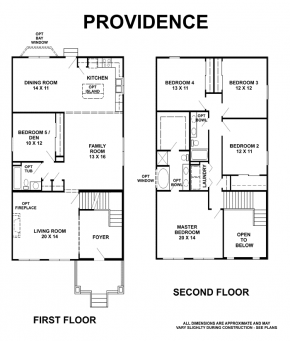 The Providence - Floorplan