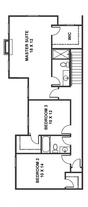 The Newport - End Unit - Second Floor