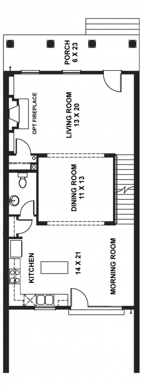 The Newport - Middle Unit - First Floor