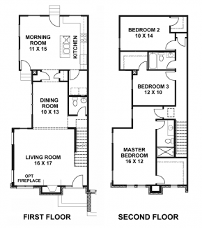 The Mansion - End Unit - Floorplan
