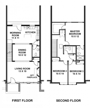 The Mansion - Middle Unit - Floorplan