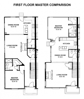The Mansion - End M Down - Floorplan