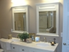 Master bath vanity w/quartz top, under mount sinks