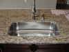 Rich granite, large undermount sink