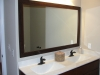 Double master vanity, framed mirror